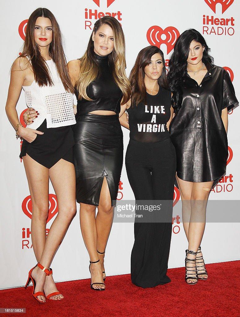 Kendall Jenner, Khloe Kardashian, Kourtney Kardashian and Kylie Jenner arrive at the iHeartRadio Music Festival - press room - Day 2 held on September 21, 2013 in Las Vegas, Nevada.