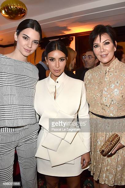 Kendall Jenner Kim Kardashian and Kris Jenner attend Buro 24/7 Fashion Forward Initiative Presenting Natalia Alaverdian Founder and Creative Director...