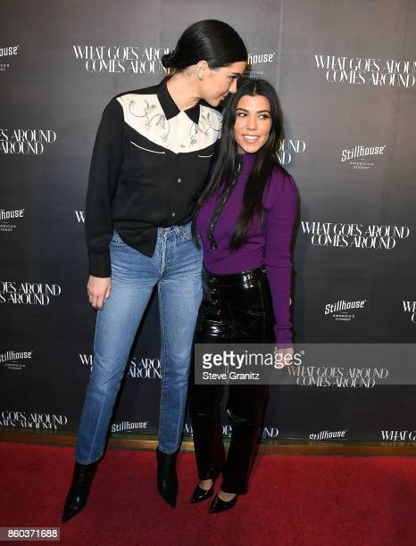 Kendall Jenner Kourtney Kardashian arrives at the What Goes Around Comes Around One Year Anniversary at What Goes Around Comes Around on October 11...