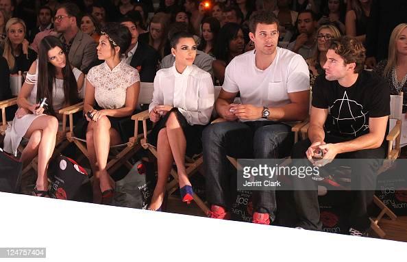 Kendall Jenner Kourtney Kardashian Kim Kardashian Kris Humphries and Brody Jenner attends the Abbey Dawn by Avril Lavigne Spring 2012 fashion show...