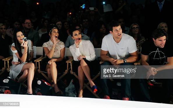 Kendall Jenner Kourtney Kardashian Kim Kardashian Kris Humphries and Brody Jenner attend the Abbey Dawn by Avril Lavigne Spring 2012 fashion show...