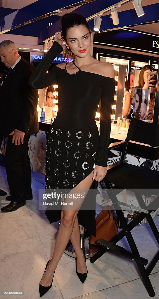 Kendall Jenner launches the Estee Edit to London fans, press and influencers on counter at Selfridges, with exclusive VIP Party after on May 26, 2016 in London, England.