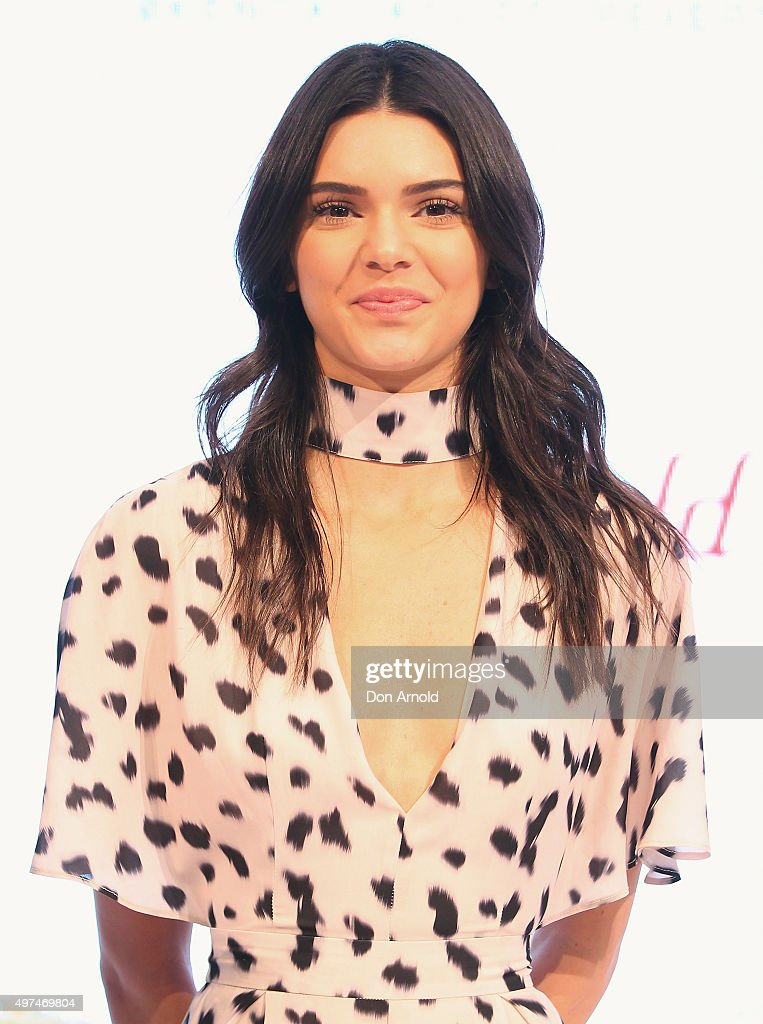 Kendall Jenner looks on at Westfield Parramatta on November 17 2015 in Sydney Australia