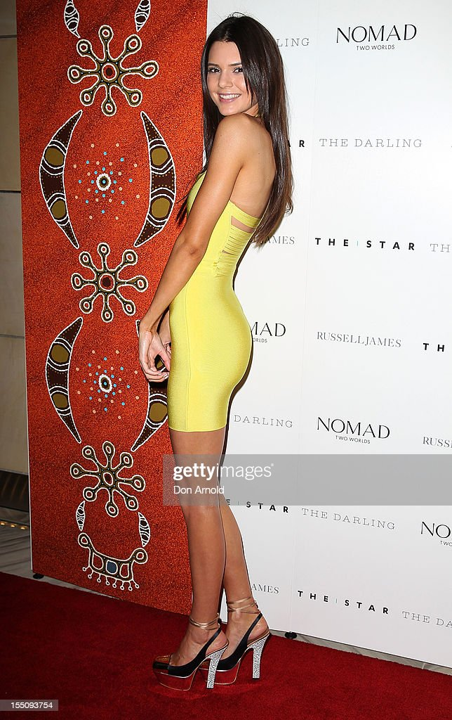 Kendall Jenner poses at the book launch of 'Nomad Two Worlds' by Russell James on November 1, 2012 in Sydney, Australia.