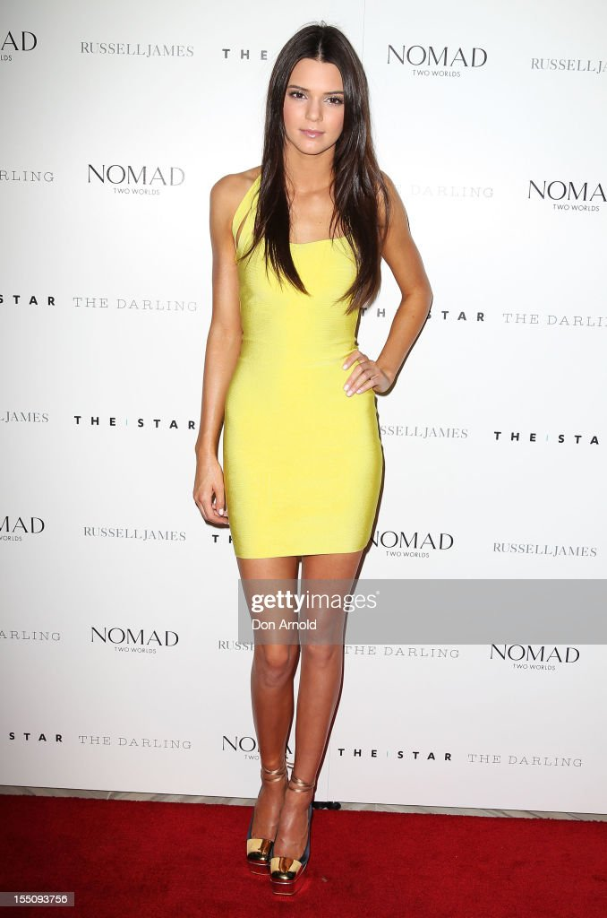 <a gi-track='captionPersonalityLinkClicked' href=/galleries/search?phrase=Kendall+Jenner&family=editorial&specificpeople=2786662 ng-click='$event.stopPropagation()'>Kendall Jenner</a> poses at the book launch of 'Nomad Two Worlds' by Russell James on November 1, 2012 in Sydney, Australia.