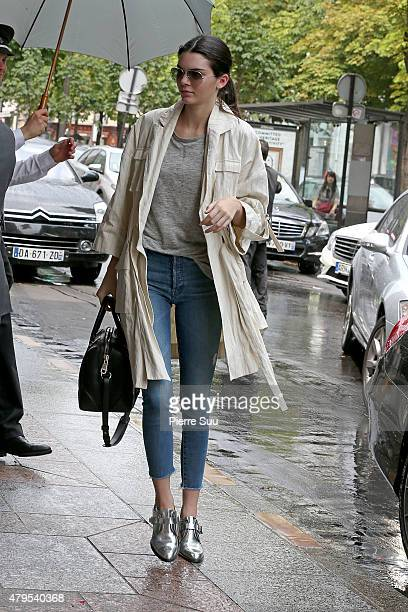 Kendall Jenner returns to her hotel on July 5 2015 in Paris France