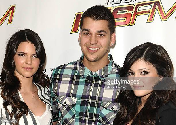 Kendall Jenner Rob Kardashian and Kylie Jenner attend KIIS FM's 2010 Wango Tango Concert at Staples Center on May 15 2010 in Los Angeles California