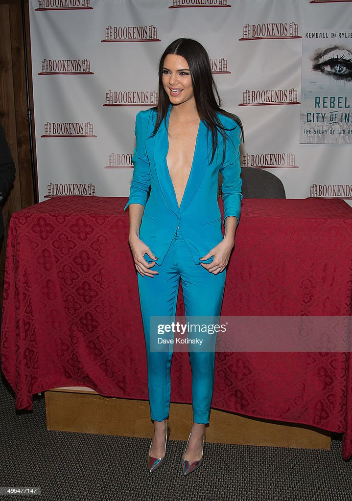 Kendall Jenner sign copies of 'City Of Indra The Story of Lex And Livia' at Bookends Bookstore on June 3 2014 in Ridgewood New Jersey