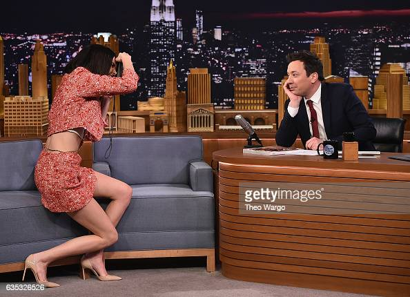 Kendall Jenner Visits 'The Tonight Show Starring Jimmy Fallon' at Rockefeller Center on February 14 2017 in New York City