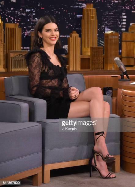 Kendall Jenner Visits 'The Tonight Show Starring Jimmy Fallon' at Rockefeller Center on September 8 2017 in New York City