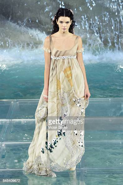 Kendall Jenner walks the runway at Fendi Roma 90 Years Anniversary fashion show at Fontana di Trevi on July 7 2016 in Rome Italy