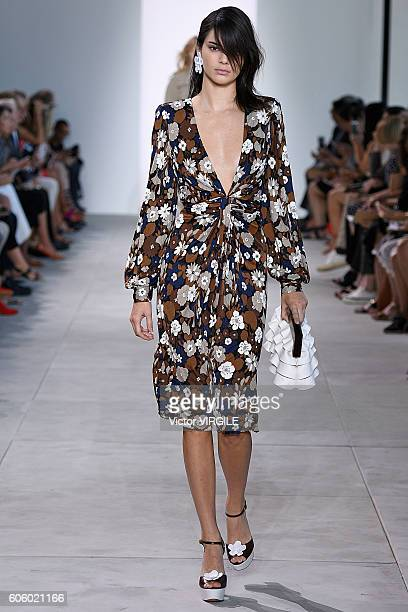 Kendall Jenner walks the runway at Michael Kors show during New York Fashion Week on September 14 2016 in New York City