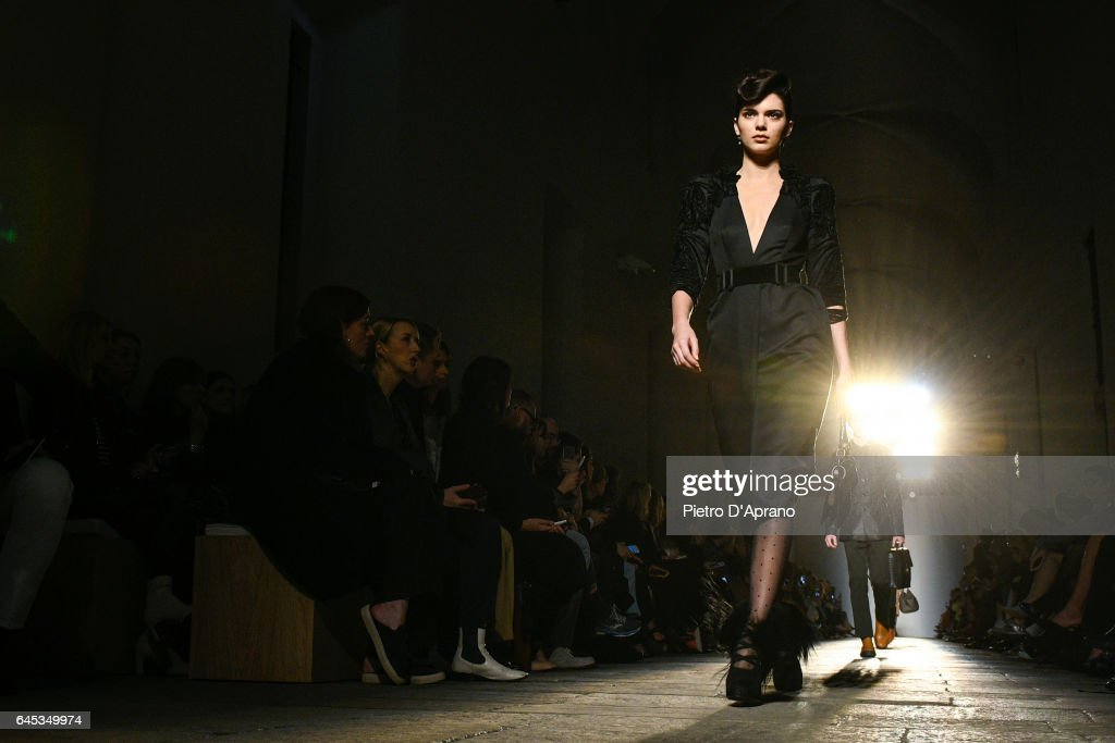 Kendall Jenner walks the runway at the Bottega Veneta show during Milan Fashion Week Fall/Winter 2017/18 on February 25, 2017 in Milan, Italy.