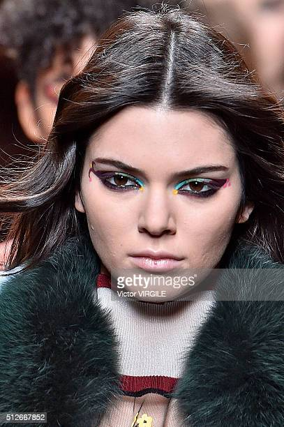 Kendall Jenner walks the runway at the Fendi fashion show during Milan Fashion Week Fall/Winter 2016/2017 on February 25 2016 in Milan Italy