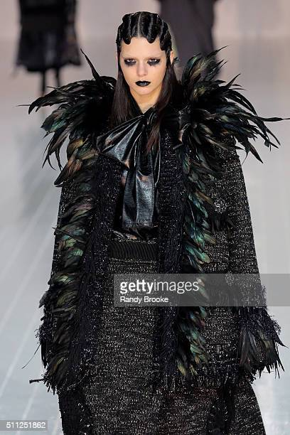 Kendall Jenner walks the runway at the Marc Jacobs Fall 2016 show during New York Fashion Week at The Park Avenue Armory at 643 Park Avenue on...