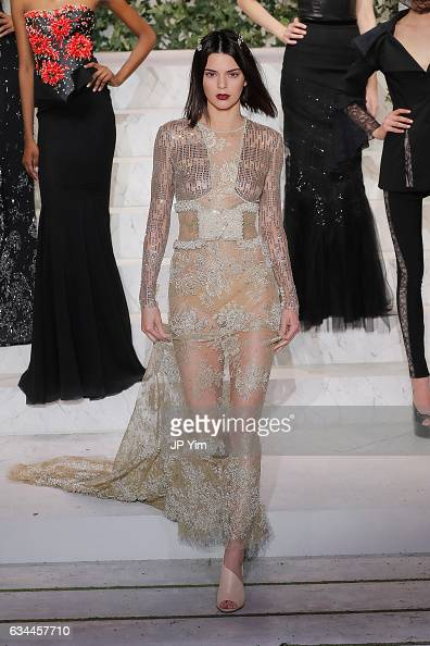 Kendall Jenner walks the runway during La Perla Fall/Winter 2017 RTW Show at SIR Stage 37 on February 9 2017 in New York City