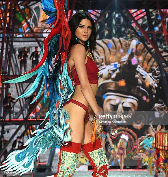 Kendall Jenner walks the runway during the 2016 Victoria's Secret Fashion Show on November 30 2016 in Paris France