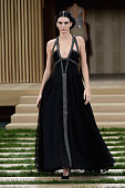Kendall Jenner walks the runway during the Chanel Haute Couture Spring Summer 2016 show as part of Paris Fashion Week on January 26 2016 in Paris...