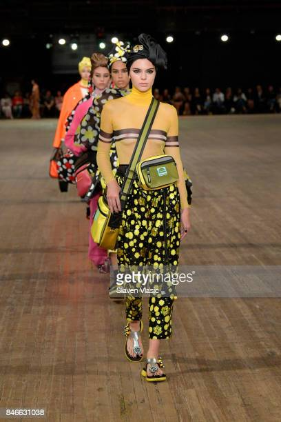 Kendall Jenner walks the runway for Marc Jacobs SS18 fashion show during New York Fashion Week at Park Avenue Armory on September 13 2017 in New York...