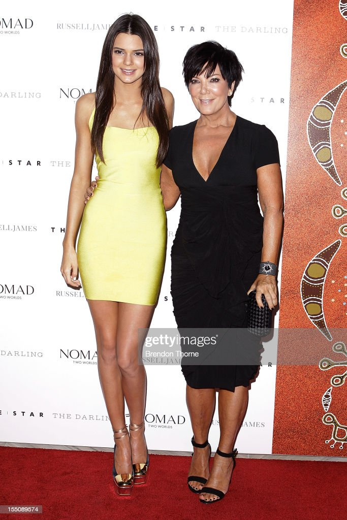 Kendall Kardashian and <a gi-track='captionPersonalityLinkClicked' href=/galleries/search?phrase=Kris+Jenner&family=editorial&specificpeople=762610 ng-click='$event.stopPropagation()'>Kris Jenner</a> arrive at the book launch of 'Nomad Two Worlds' by Russell James on November 1, 2012 in Sydney, Australia.