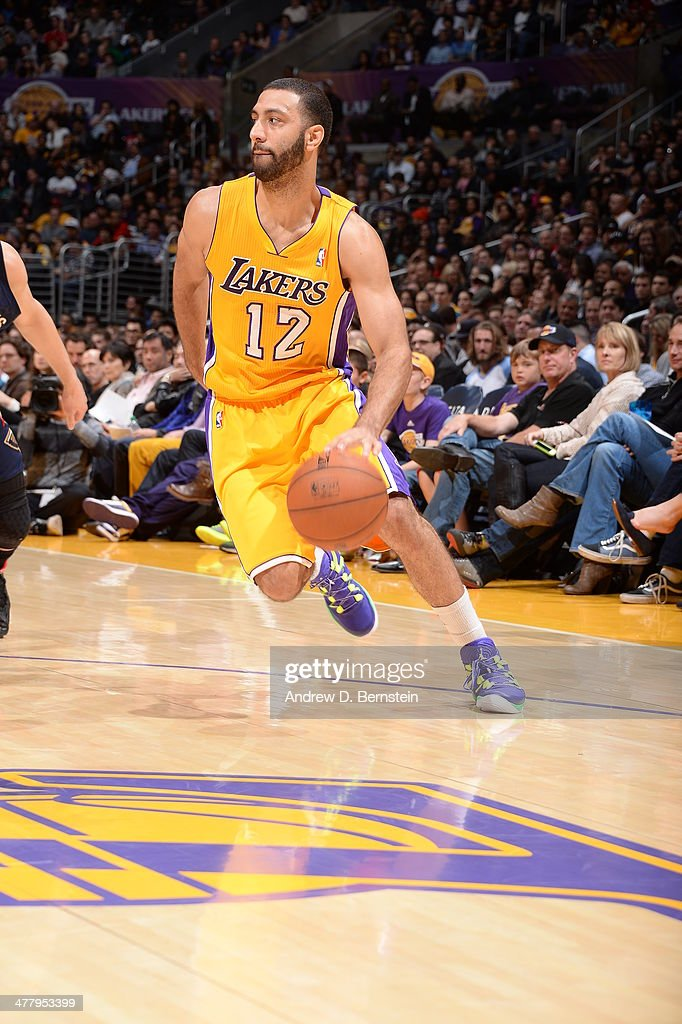 <a gi-track='captionPersonalityLinkClicked' href=/galleries/search?phrase=Kendall+Marshall&family=editorial&specificpeople=6783056 ng-click='$event.stopPropagation()'>Kendall Marshall</a> #12 of the Los Angeles Lakers handles the ball against the New Orleans Pelicans at Staples Center on March 4, 2014 in Los Angeles, California.