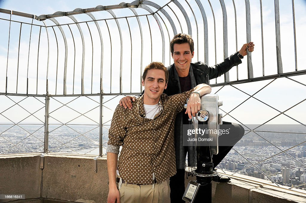 Kendall Schmidt & James Maslow From Big Time Rush Visit The Empire State Building