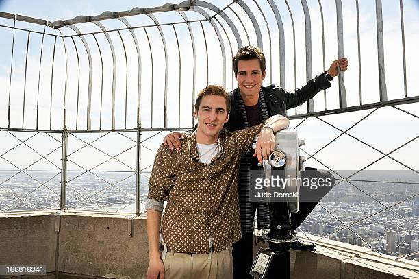 Kendall Schmidt and James Maslow visit The Empire State Building on April 17 2013 in New York City