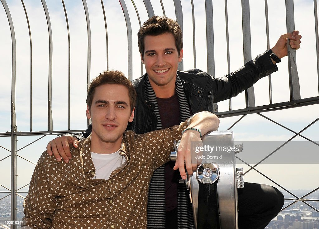 <a gi-track='captionPersonalityLinkClicked' href=/galleries/search?phrase=Kendall+Schmidt&family=editorial&specificpeople=6326531 ng-click='$event.stopPropagation()'>Kendall Schmidt</a> and <a gi-track='captionPersonalityLinkClicked' href=/galleries/search?phrase=James+Maslow&family=editorial&specificpeople=6522849 ng-click='$event.stopPropagation()'>James Maslow</a> visit The Empire State Building on April 17, 2013 in New York City.
