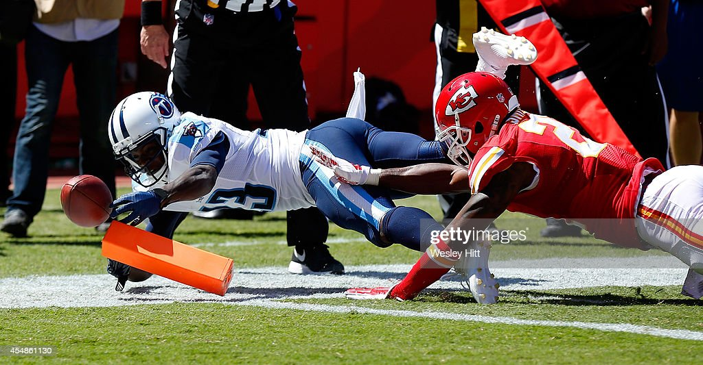 051f4240d ... 13 of the Tennessee Titans dives in for a touchdown against Sean Smith Nike  Titans 13 Kendall Wright Light Blue Team Color Womens Stitched NFL Elite ...