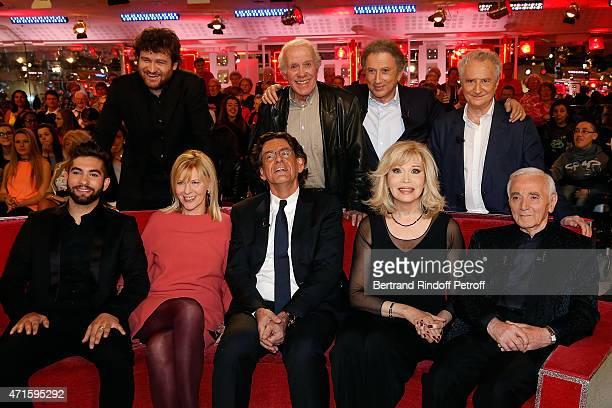 Kendji Girac Chantal Ladesou Luc Ferry Amanda Lear Charles Aznavour Olivier de Benoist Jacques Balutin Michel Drucker and Daniel Prevost attend the...