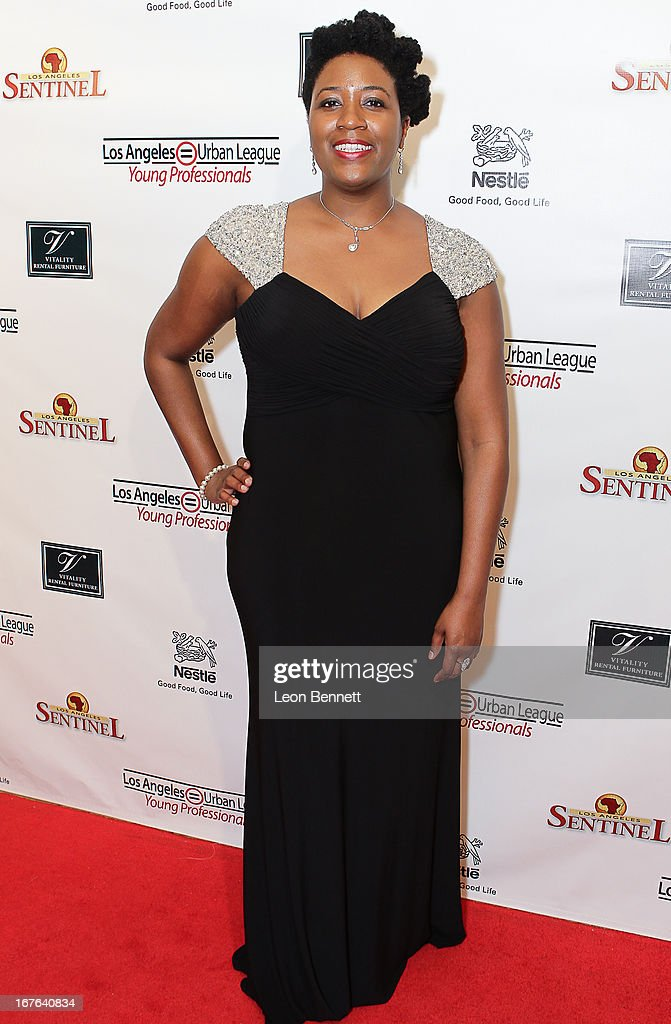 Kendra Smith arrived at the LA Urban League Young Professionals 3rd Annual To The Nines After Party at The Beverly Hilton Hotel on April 26, 2013 in Beverly Hills, California.