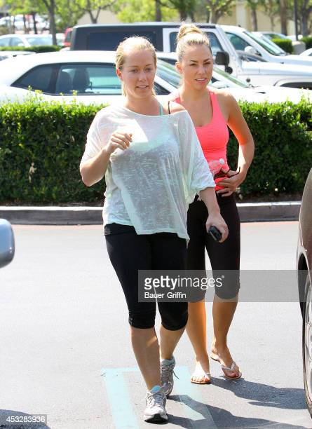 Kendra Wilkinson and Jessica Hall seen in Calabasas on August 06 2014 in Los Angeles California