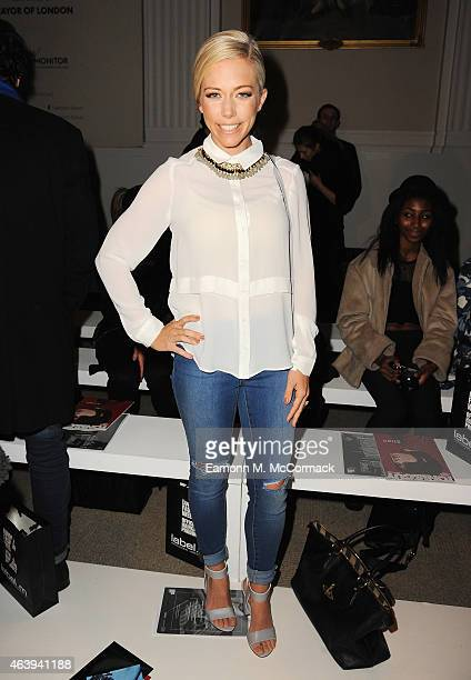 Kendra Wilkinson attends the Jamie Wei Huang show during London Fashion Week Fall/Winter 2015/16 at on February 20 2015 in London England