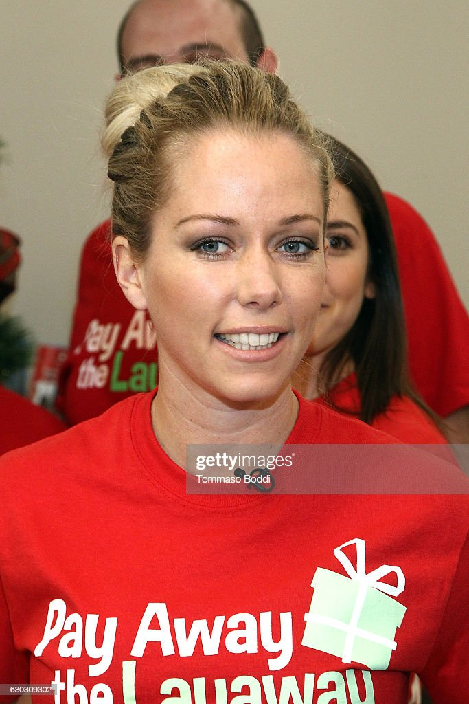 Kendra Wilkinson attends the 'Pay Away The Layaway' event at Kmart on December 20, 2016 in Burbank, California.