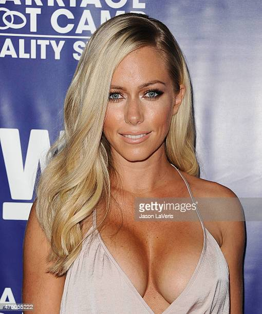 Kendra Wilkinson attends WE tv's 'Marriage Bootcamp Reality Stars'' premiere party at HYDE Sunset Kitchen Cocktails on May 28 2015 in West Hollywood...