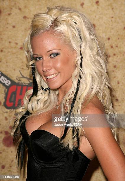 Kendra Wilkinson during Fuse Fangoria Chainsaw Awards Arrivals at Orpheum Theatre in Los Angeles California United States