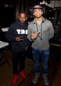 Kendrick Lamar and Tristan Wilds are seen during NBA AllStar Weekend 2014 at on February 15 2014 in New Orleans Louisiana