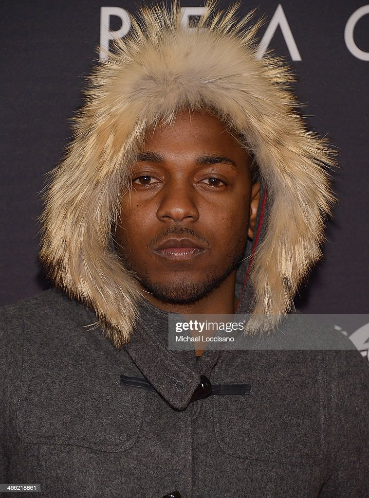 Kendrick Lamar attends the ESPN The Party at Basketball City - Pier 36 - South Street on January 31, 2014 in New York City.