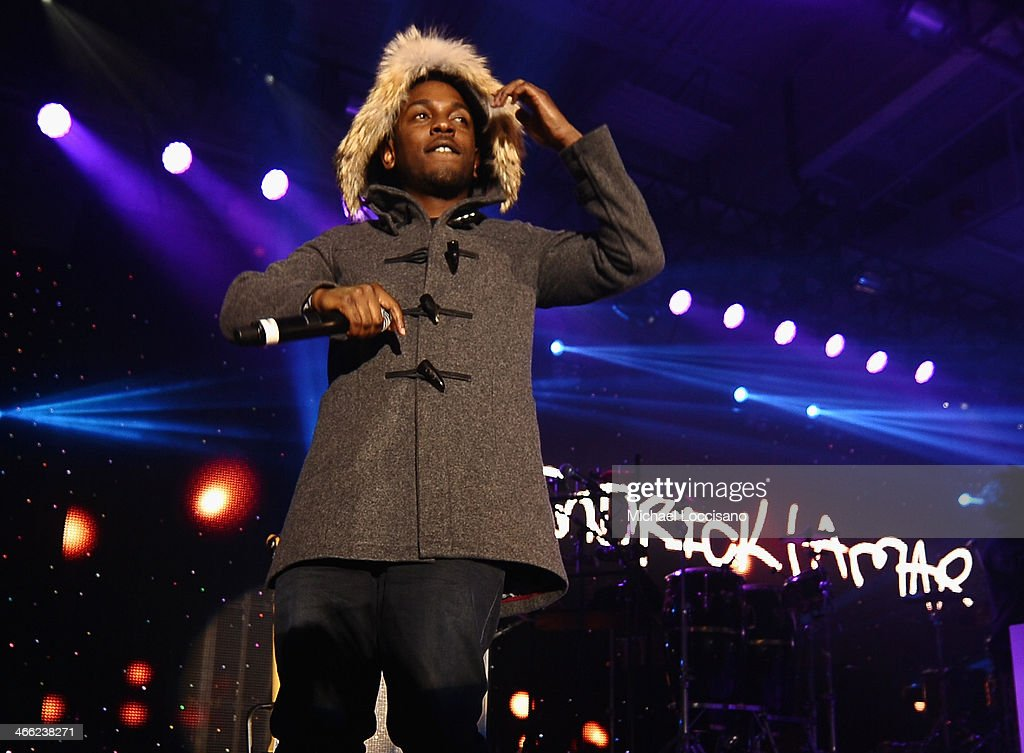 <a gi-track='captionPersonalityLinkClicked' href=/galleries/search?phrase=Kendrick+Lamar&family=editorial&specificpeople=8012417 ng-click='$event.stopPropagation()'>Kendrick Lamar</a> performs at ESPN The Party at Basketball City - Pier 36 - South Street on January 31st, 2014 in New York City