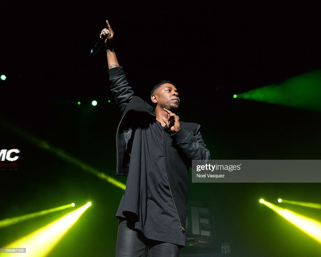 <a gi-track='captionPersonalityLinkClicked' href=/galleries/search?phrase=Kendrick+Lamar&family=editorial&specificpeople=8012417 ng-click='$event.stopPropagation()'>Kendrick Lamar</a> performs at Power 106FM's Cali Christmas at Gibson Amphitheatre on December 14, 2012 in Universal City, California.