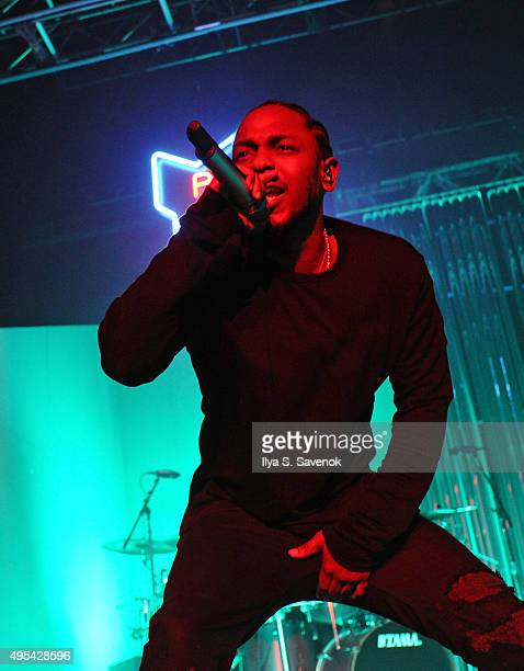Kendrick Lamar performs at Terminal 5 on November 2 2015 in New York City