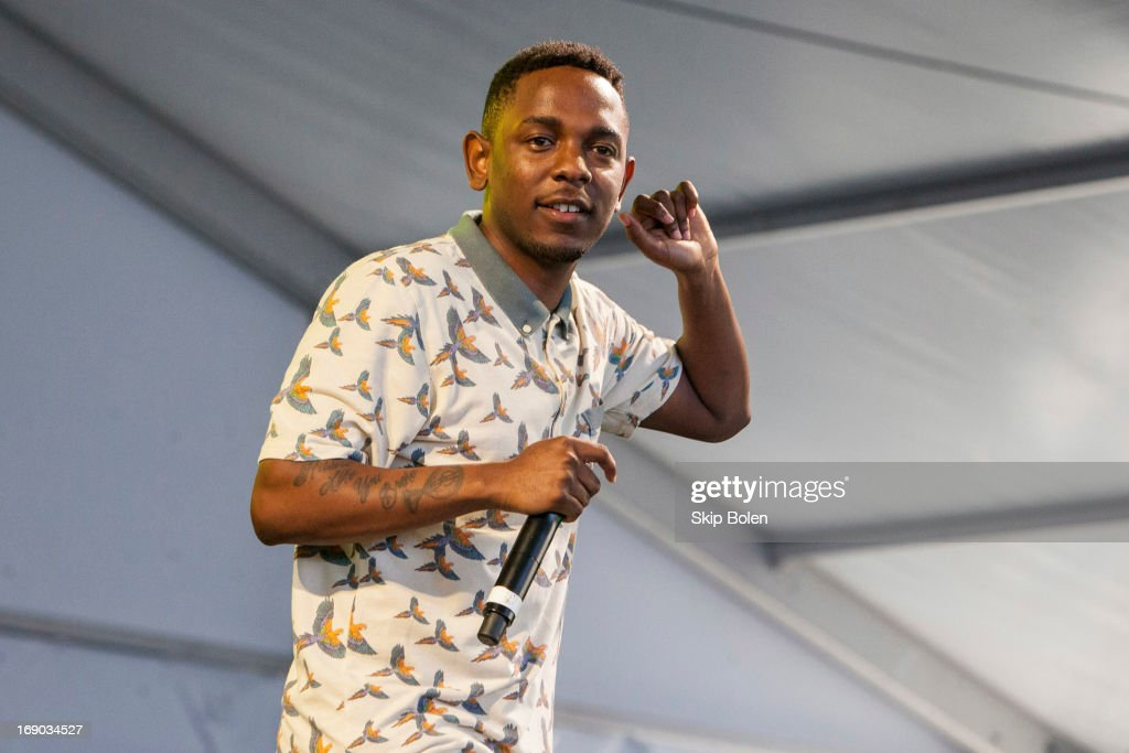 Kendrick Lamar performs during the 2013 Hangout Music Festival on May 18, 2013 in Gulf Shores, Alabama.