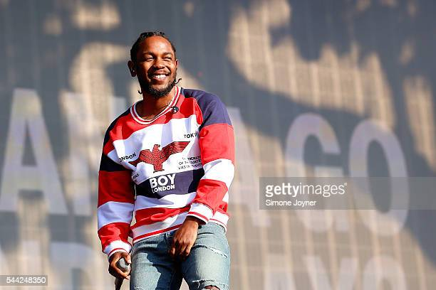 Kendrick Lamar performs live on stage during day two at the Barclaycard Presents British Summer Time Festival in Hyde Park on July 2 2016 in London...