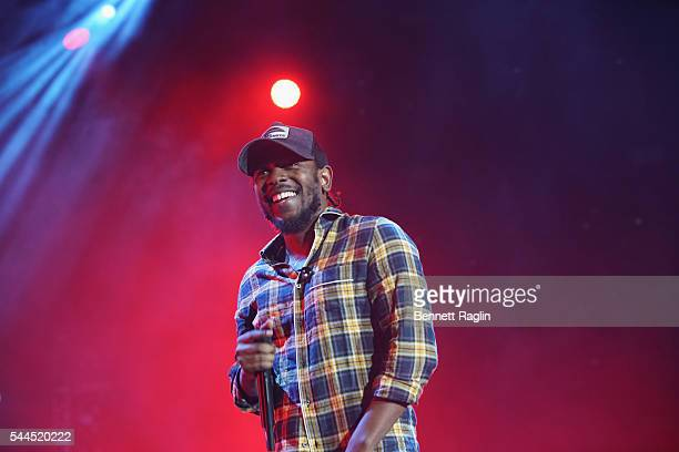 Kendrick Lamar performs onstage at 2016 ESSENCE Festival Presented by Coca Cola at the Louisiana Superdome on July 3 2016 in New Orleans Louisiana
