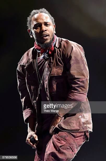 Kendrick Lamar performs onstage at 2016 Panorama NYC Festival Day 2 at Randall's Island on July 23 2016 in New York City