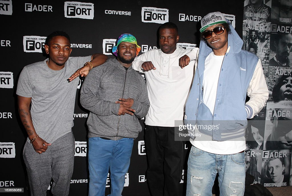 Kendrick Lamar, Schoolboy-Q, Jay Rock and Ab-Soul of Black Hippy attend Fader Fort presented by Converse during SXSW on March 13, 2013 in Austin, Texas.