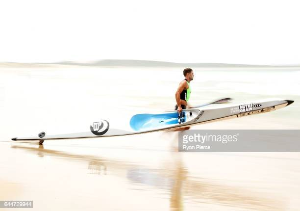 Kendrick Louis competes on the Ski during the Round One Enduro during the Nutri Grain IronMan and IronWoman Finals at Cronulla Beach on February 24...