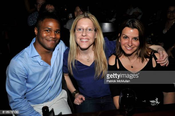 Kendrick Sadler Colleen Kenny and Despina Legakis attend The East Harlem School presents 2010 Spring Poetry Slam at Highline Ballroom on May 4 2010...