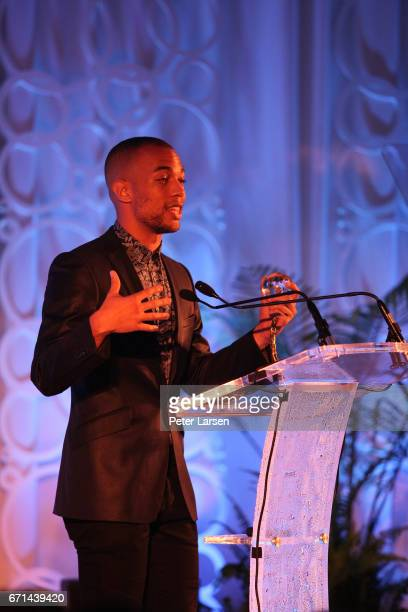 Kendrick Sampson attends the EARTHxGlobal Gala on April 21 2017 in Dallas Texas
