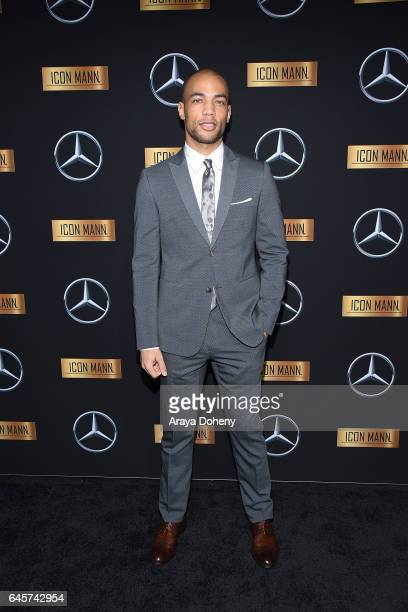 Kendrick Sampson attends the MercedesBenz x ICON MANN 2017 Academy Awards Viewing Party at Four Seasons Hotel Los Angeles at Beverly Hills on...